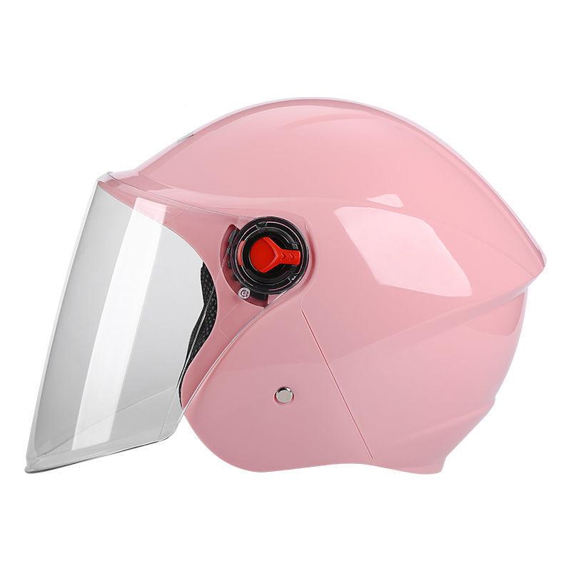 orz电动车头盔灰男女士四季通用电瓶车半盔夏季防晒轻便式防护帽