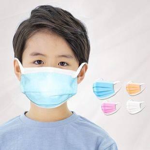 现货口罩一次性三层含熔喷夏天薄款透气防晒尘护儿童印花口鼻罩50