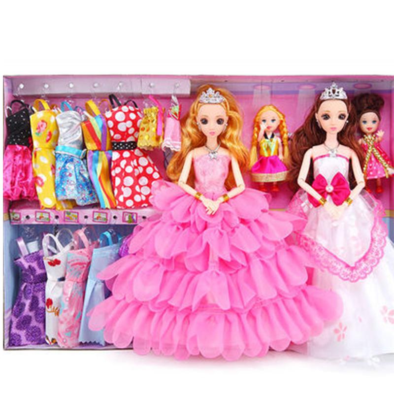 洋馨蕾芭比娃娃套装大礼盒玩具公主女孩子婚纱过家家生日礼物别墅