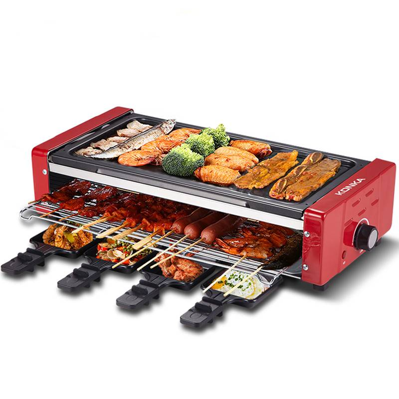 康佳电烧烤炉双层韩式无烟烤肉机家用烧烤架烤肉锅烤串不粘电烤炉