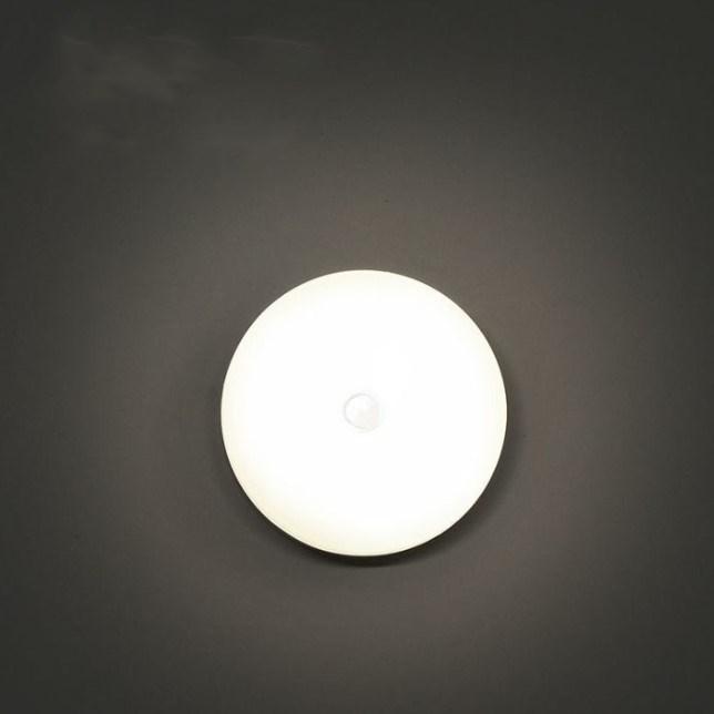 led智能人体感应灯床头卧室家用起夜充电池小夜灯楼道过道不插电