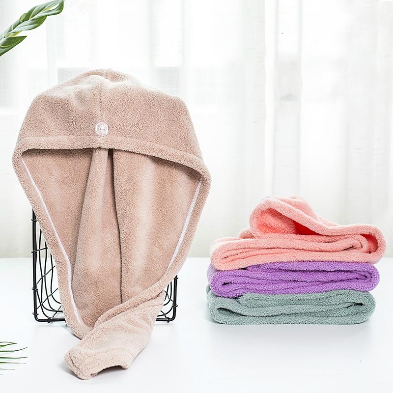 干发帽吸水浴帽洗头发速干毛巾包头女加厚儿童长发擦头巾神器