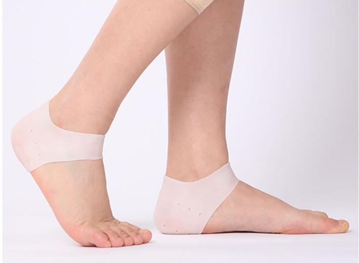 男女干裂开裂脚后跟保护套防裂保湿袜子脚套硅胶保护套