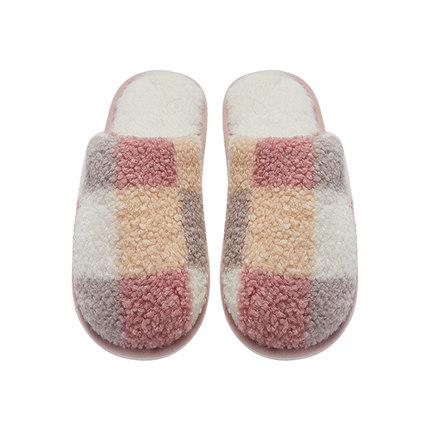 大朴情侣拖鞋冬季情侣一对棉拖鞋女搞怪泰迪绒创意个性保暖拖鞋