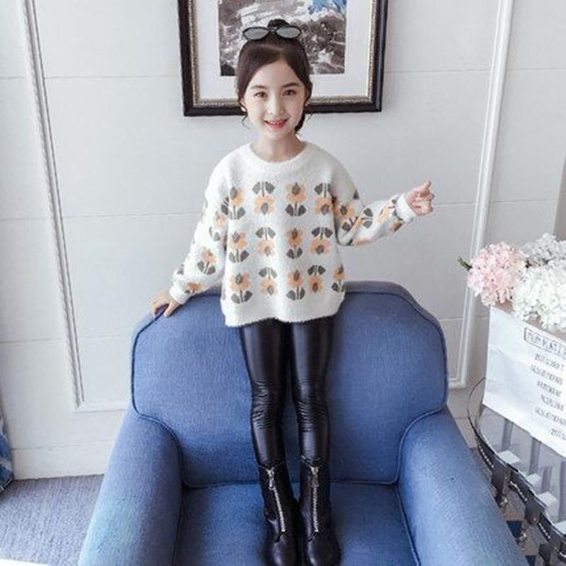 女童毛衣2020秋冬新款儿童针织衫中大童保暖线衣套头上衣女孩毛衣