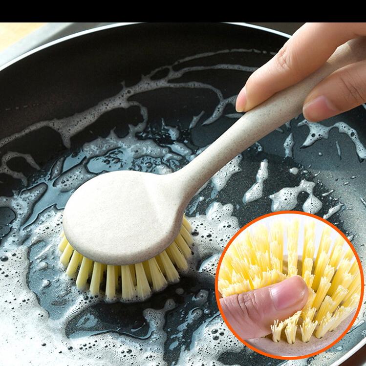 厨房长柄清洁刷 家用去污洗锅刷可挂式水槽灶台洗碗刷子