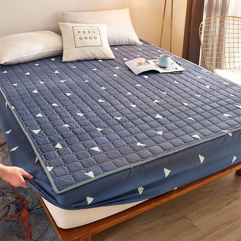 防水床笠床罩单件隔尿透气床垫套加厚夹棉床垫防尘罩席梦思保护套