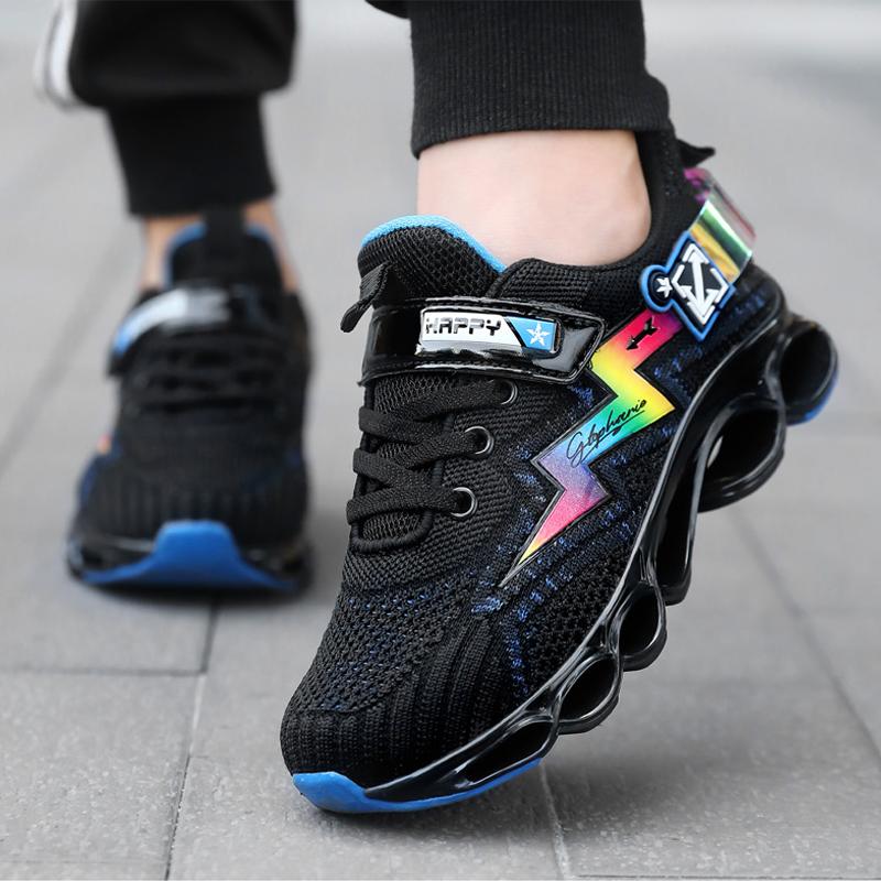 男童运动鞋春秋2020秋款新款网面透气中大童男孩网鞋秋季儿童鞋子