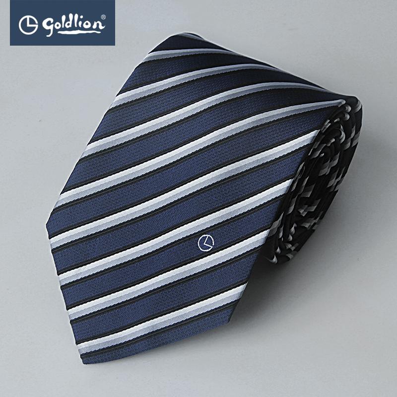 Goldlion/金利来纯色男士商务休闲精致斜纹挺括有型色织正装领带