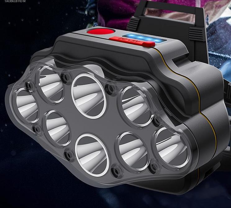 超亮led头灯强光充电远射头戴式手电筒夜钓鱼矿灯感应家用小疝气