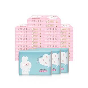 百乐柔纸巾保湿纸巾婴儿专用超柔新生宝宝抽纸40抽20包乳霜鼻子纸