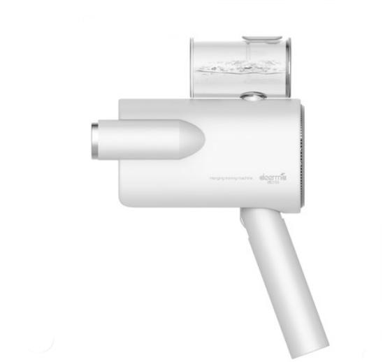 德尔玛手持挂烫机家用蒸汽刷电熨斗便携式小型熨烫机衣服神器米白