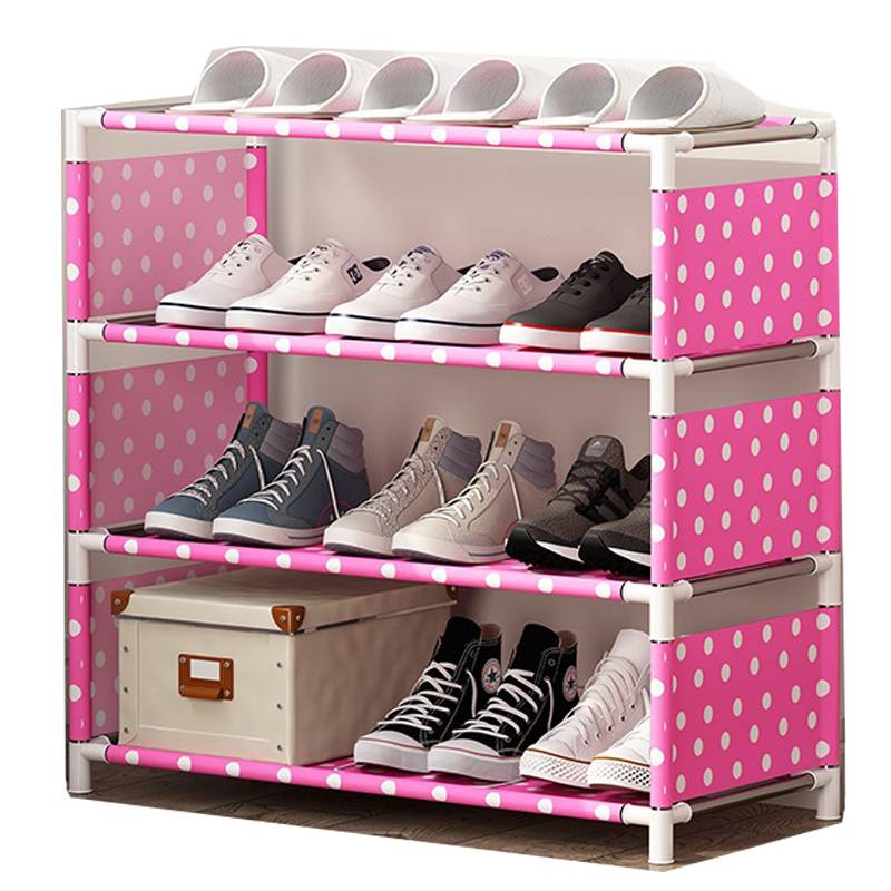 简易鞋架多层家用组装门口钢管鞋柜简约现代经济型宿舍防尘鞋架子