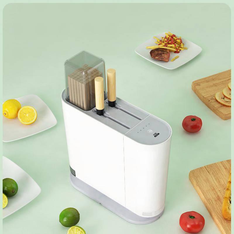 初致智能刀架紫外线筷子消毒机厨房家用小型烘干刀具筷子架消毒器