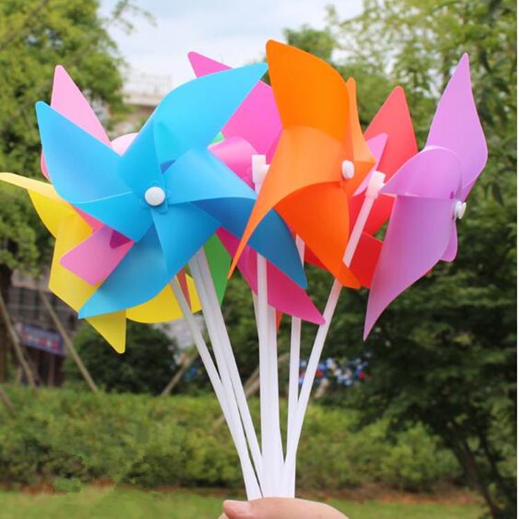 风车定制广告logo儿童旋转塑料玩具户外装饰挂串宣传地推小礼品