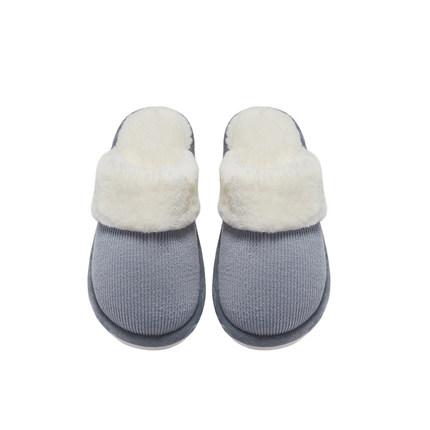 大朴情侣拖鞋冬季情侣一对竖纹冬天棉拖鞋女室内可爱保暖韩版拖鞋
