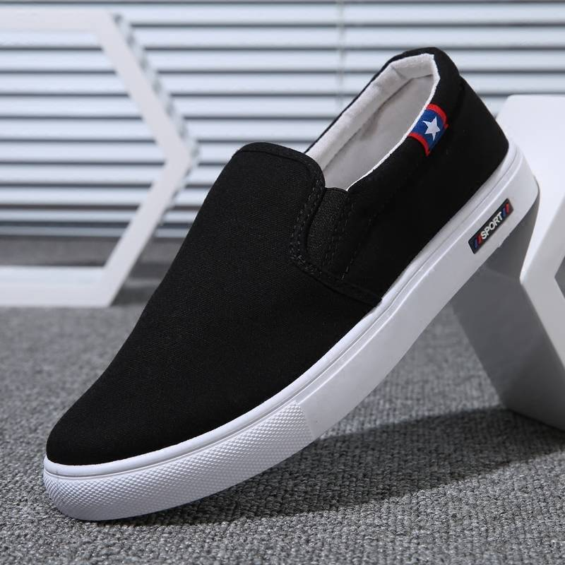 2021夏季男鞋新款男士帆布鞋韩版潮流低帮布鞋一脚蹬懒人休闲鞋潮