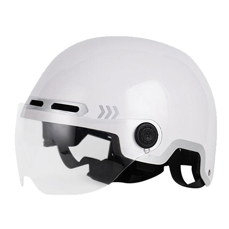 保暖头盔电瓶电动车男女士四季通用轻量化复古摩托车安全半盔护耳