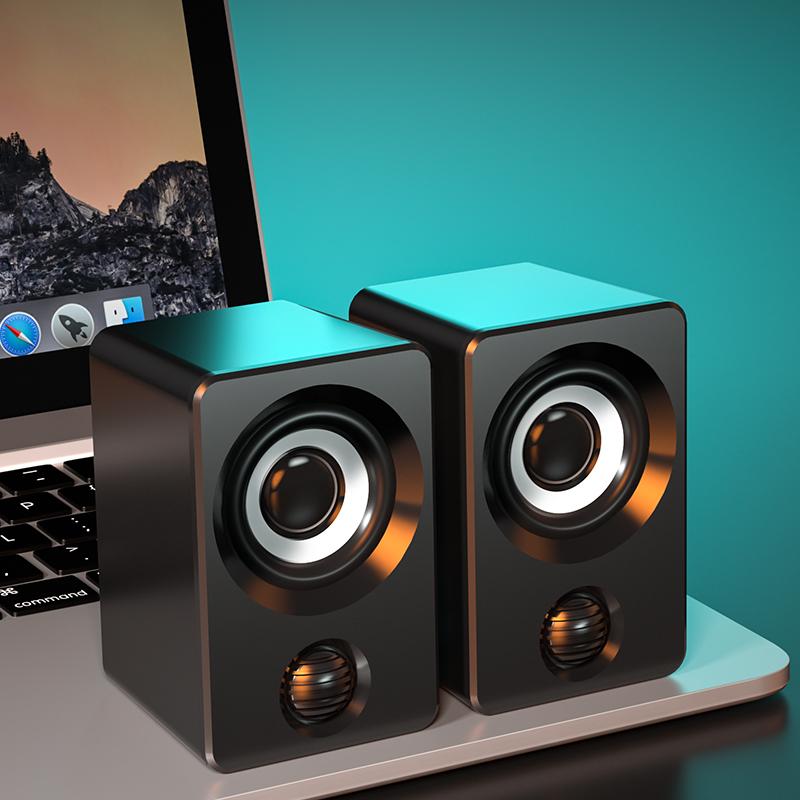 高音质电脑音响小音箱台式机笔记本家用有线蓝牙低音炮桌面外放扬声器音响喇叭迷你小型适用惠普联想华为影响