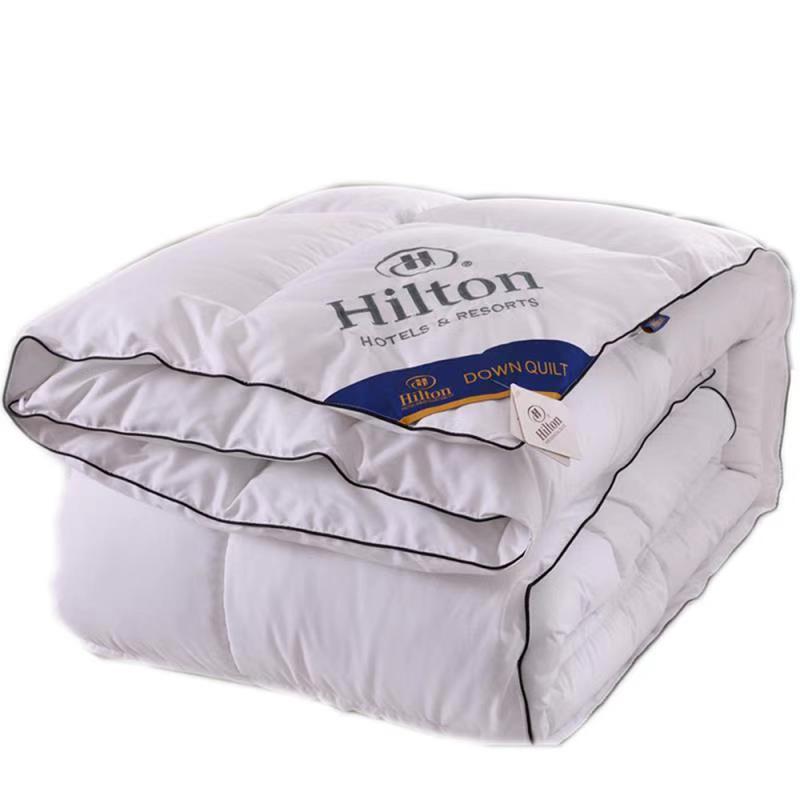 正品出口希尔顿酒店羽绒被冬被加厚双人春秋95鹅绒被子6斤被芯8斤