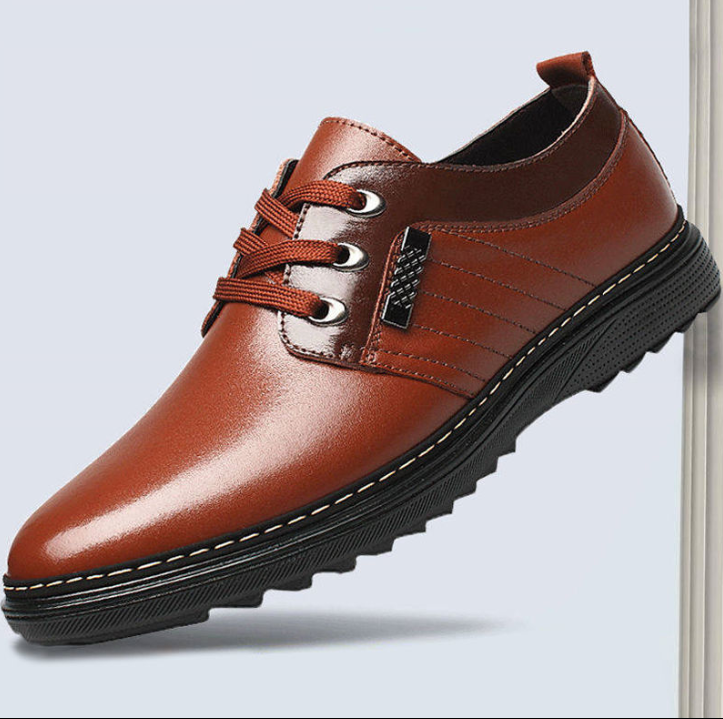 【奥里卡】皮鞋男士休闲秋季商务透气皮鞋防水防滑上班工作鞋子男