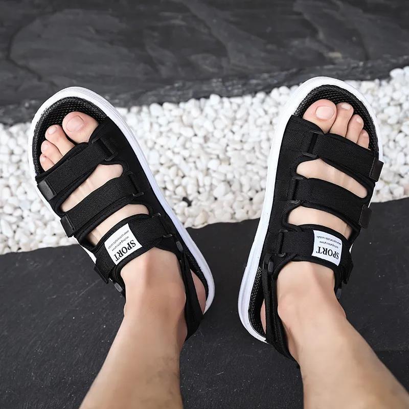 凉鞋男士夏季时尚沙滩鞋两用防滑外穿2021新款潮流休闲情侣拖鞋男