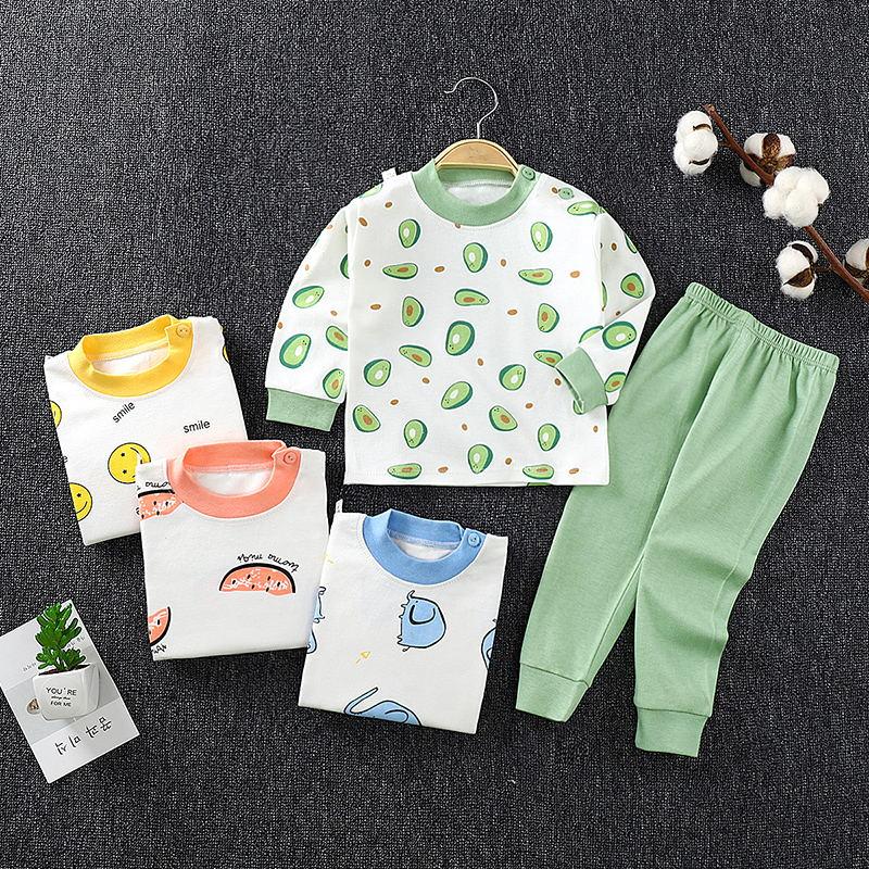 秋季新款儿童内衣套装舒适男女宝宝秋衣秋裤两件套中小童棉毛睡衣