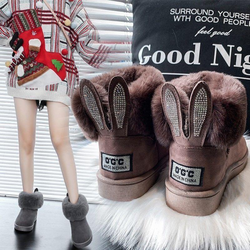 时尚女鞋雪地靴加绒