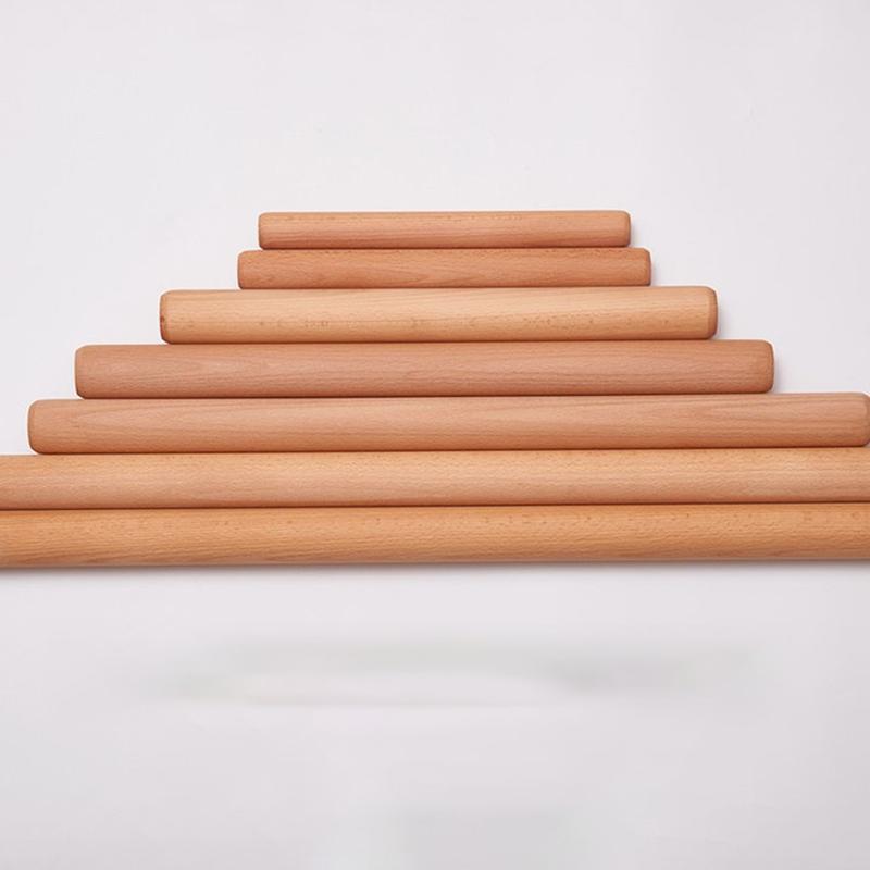 进口榉木擀面杖 实木擀面棍 扞檊面棒圆木棒 非梨木 大小号饺子皮