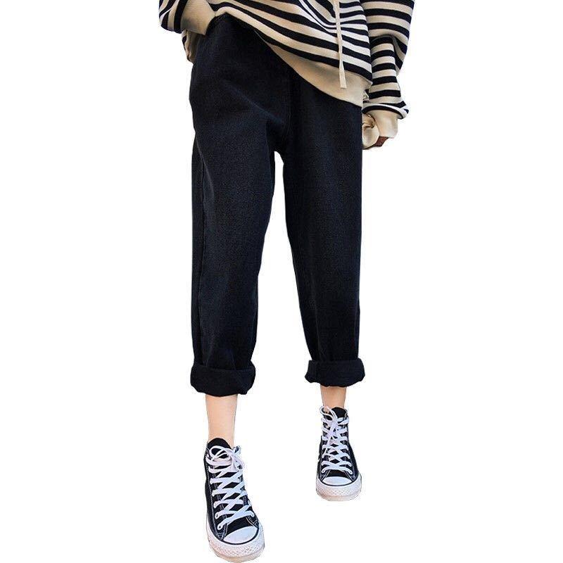2021新款春季胖妹妹胯宽腿粗的裤子显瘦高腰直筒牛仔裤女宽松大码