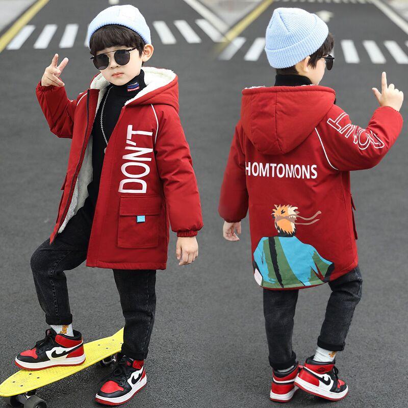 中大童男童秋装外套2020新款洋气秋冬儿童中长款风衣韩版上衣潮帅