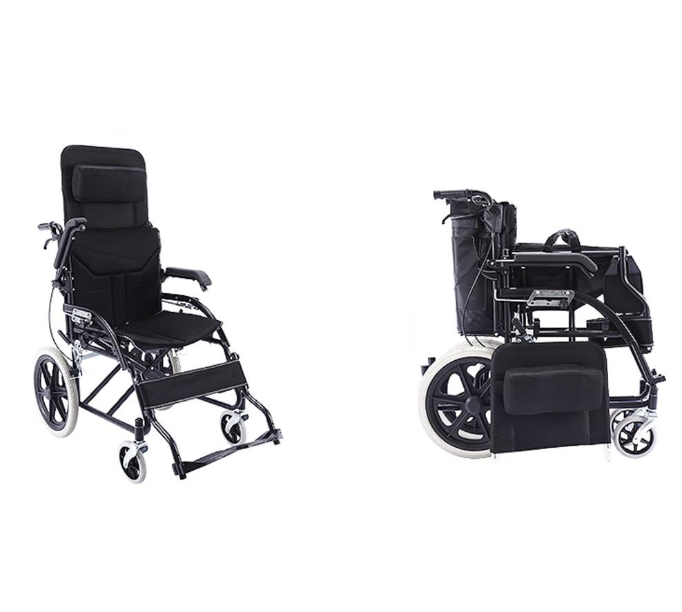 全新升级折叠椅子轻便便携超轻老年手推车实心轮旅行代步车座椅
