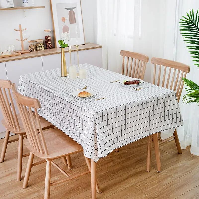 pvc台布桌布防水防烫防油免洗塑料茶几垫少女心ins长方形餐桌布艺