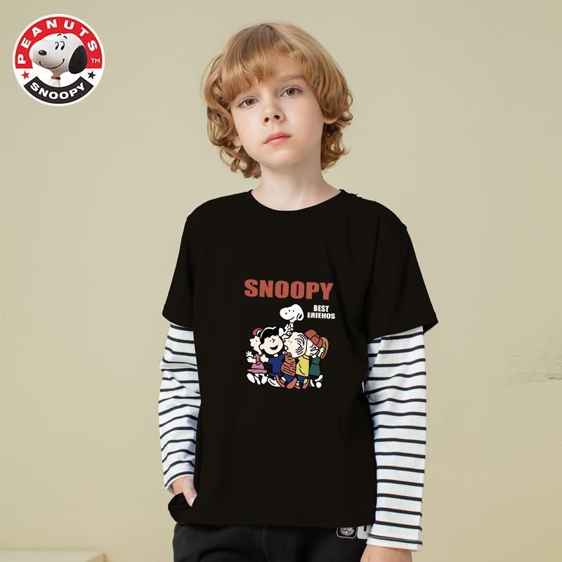 【史努比】儿童长袖假两件纯棉T恤