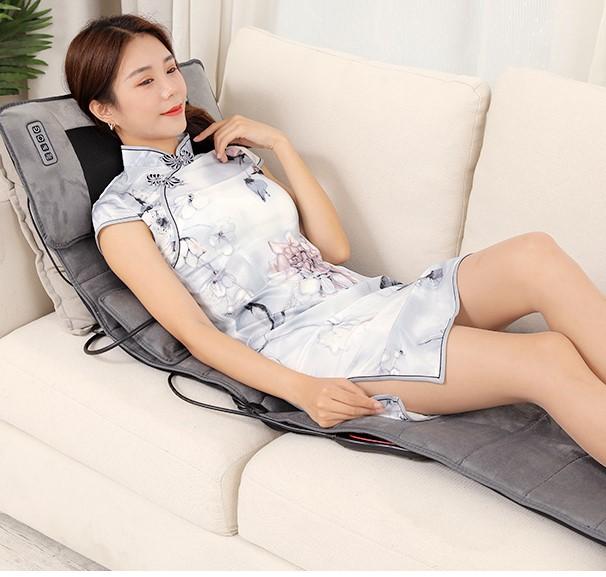 颈椎按摩器多功能家用电动全身按摩垫颈腰部背部肩部靠垫床垫椅垫