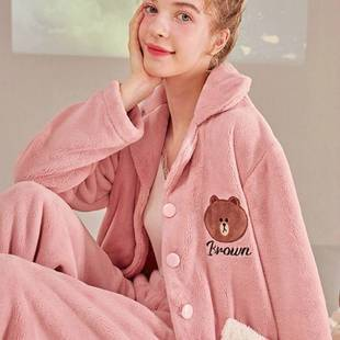 【618预售】芬腾甜美法兰绒加厚保暖家居服
