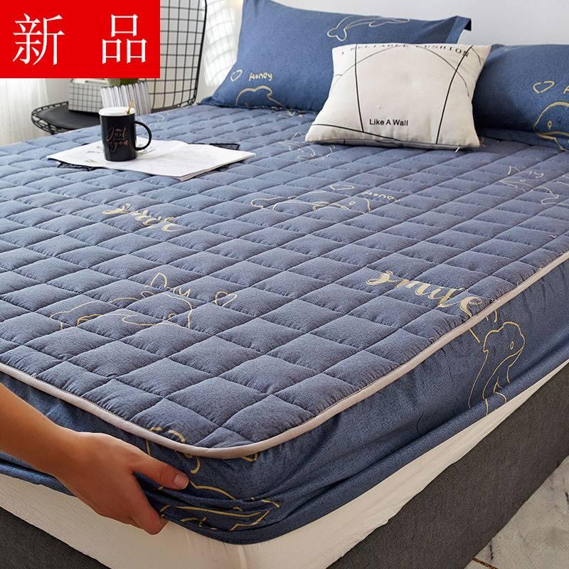 床笠夹棉防水单件隔尿罩床罩套席梦思保护套床垫套防尘罩