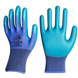 手套劳保耐磨男女干活工作工地防滑透气胶皮橡胶劳保手套