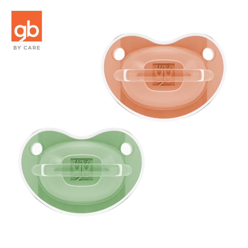 gb好孩子安抚奶嘴宽口径硅胶0-12个月新生儿超软安睡奶嘴