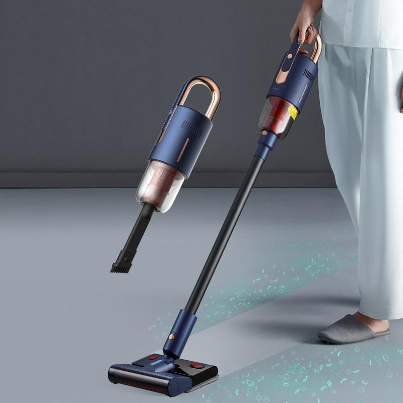 德尔玛无线吸尘器洗地机家用吸尘器地毯神器电动拖地吸拖地一体机
