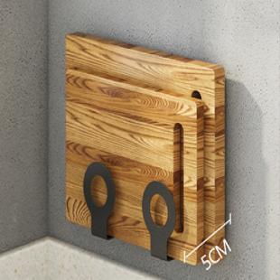 锅盖架菜板收纳厨房置物架壁挂式放粘砧板的支架免打孔不锈钢神器