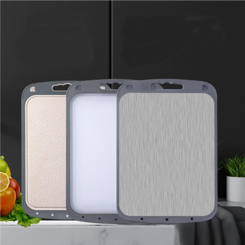 环屿不锈钢菜板砧板切菜板抗菌防霉家用案板双面和面板粘板暖菜板
