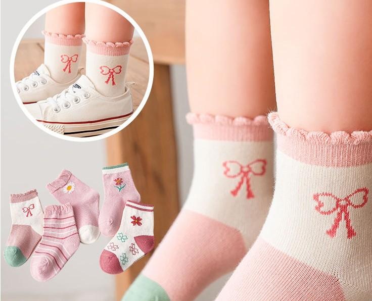 儿童袜子秋冬纯棉中长筒宝宝袜男童女童春秋中大童小孩薄款学生袜
