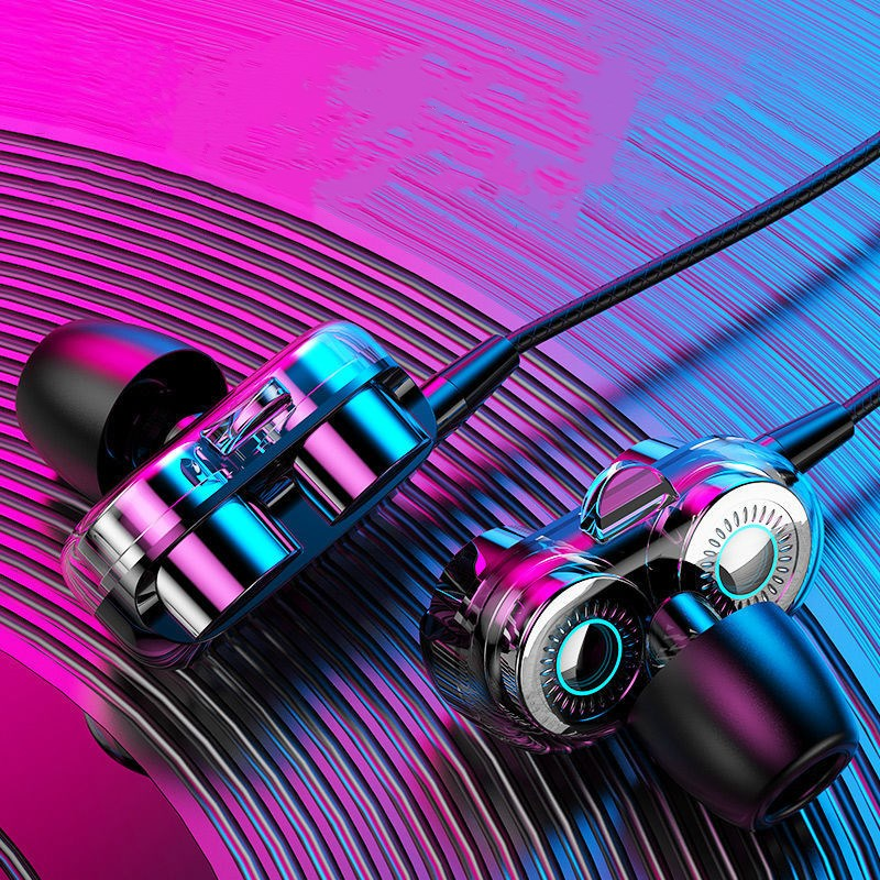耳机适用vivo华为OPPO苹果小米通用入耳式有线游戏耳机线耳塞可爱