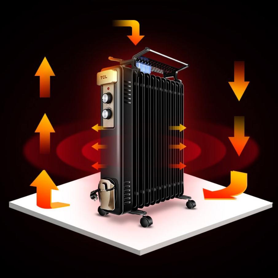 TCL取暖器家用电暖器电热油汀立式电暖气节能省电静音2020新升级