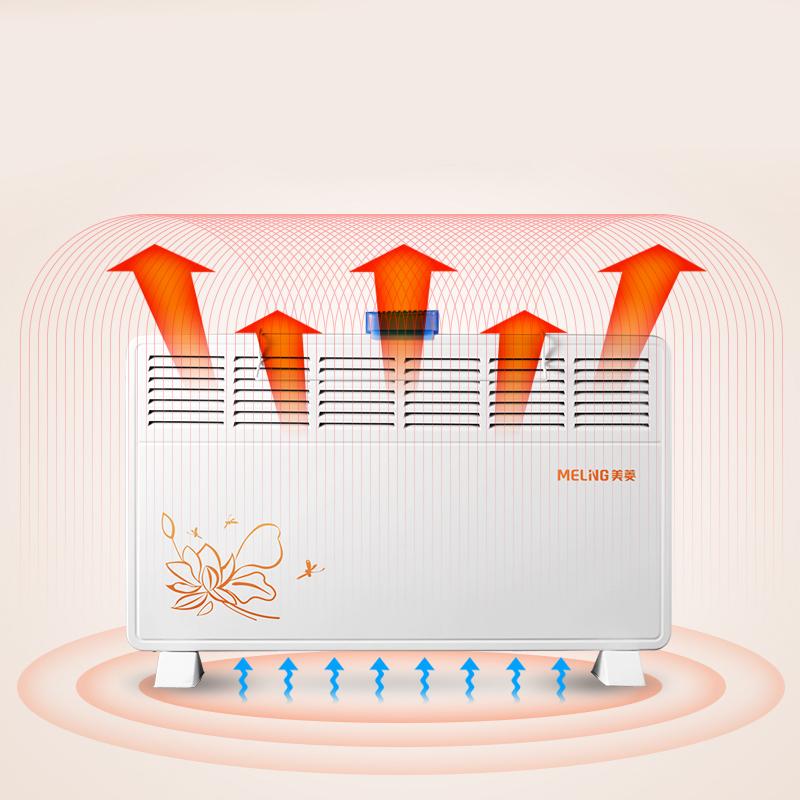 美菱取暖器浴室暖风机家用居浴两用防水对流式加湿烘干器电暖炉