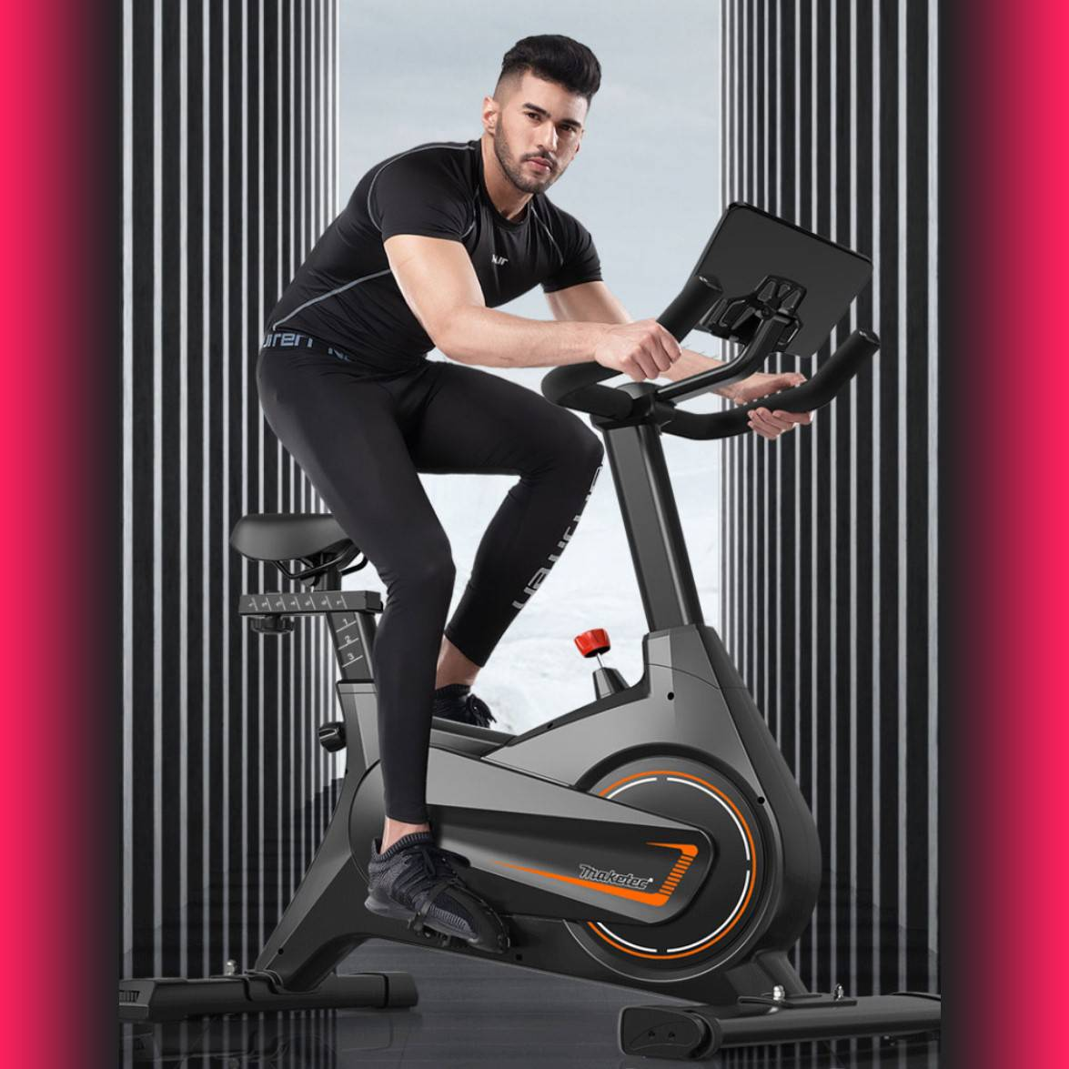 全新升级黑科技磁控阻力动感单车家用健身房专用运动自行车静音款