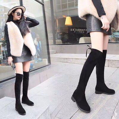 韩莲朵2020冬季新款长靴女过膝显瘦百搭性感女士靴子女韩版骑士靴