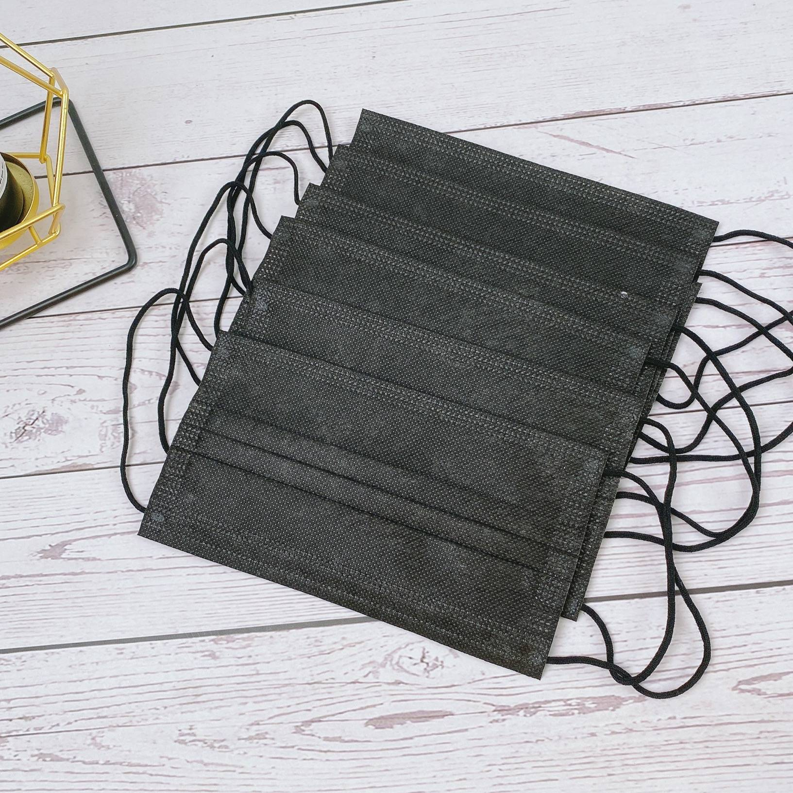 【助鑫】加厚黑色冬季款一次性医用口罩一次性三层防尘防飞沫