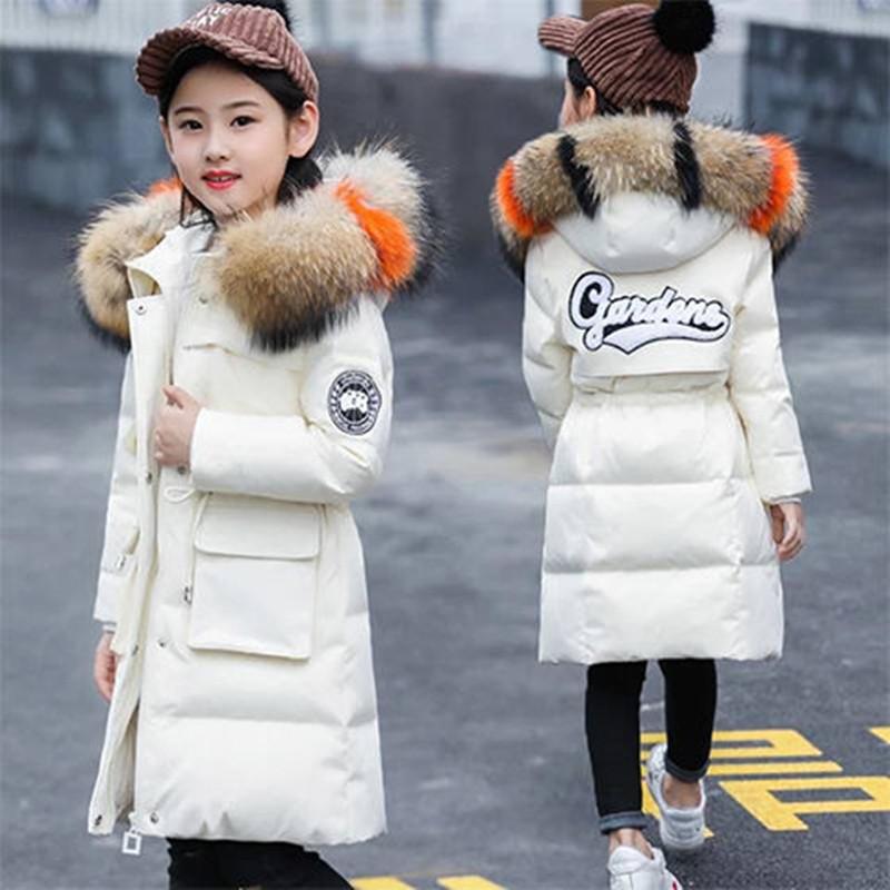 女童棉衣中长款加厚羽绒棉服2020新款中大童棉袄儿童冬装韩版外套
